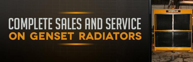 We offer complete sales and service on genset radiators!