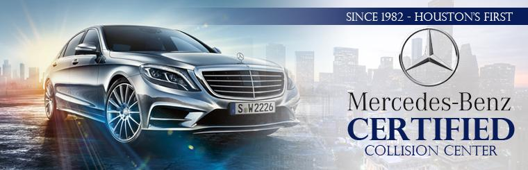 Houston's #1 Mercedes-Benz Certified Collision Center: Contact us for details.