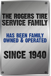 The Rogers Tire Service Family has been family owned and operated since 1940.