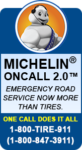 Michelin® On Call 2.0. Emergency road service now more than tires. One call does it all. 1-800-847-3911.