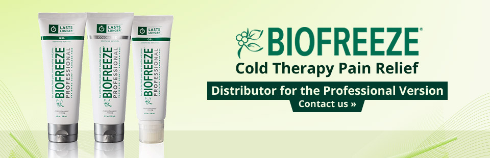 We are a distributor for the professional version of Biofreeze! Click here to contact us.