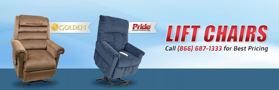 We carry Golden Technologies and Pride lift chairs.