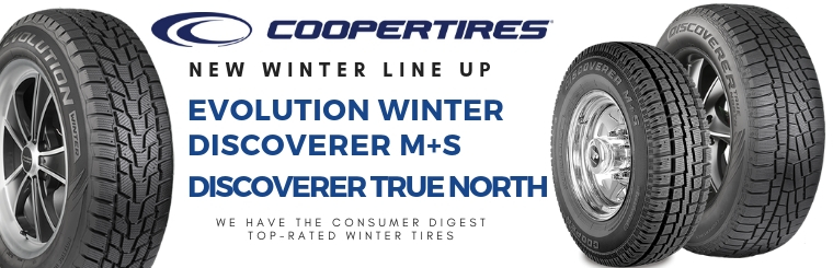 Coopertires new winter lineup Evolution Winter Discoverer M+S Discoverer True North
