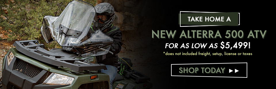 Shop The Alterra 500 ATV by Textron Off-Road. We are your Cody, WY Powersports Dealer.