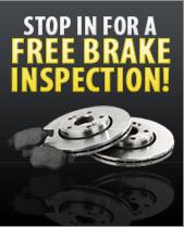 Stop in for a FREE brake inspection!