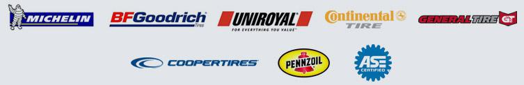 We carry products by Michelin®, BFGoodrich®, Uniroyal®, Continental, General, Cooper, and Penzoil. We are ASE certified.