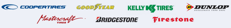 We proudly carry the following brands: Cooper, Goodyear, Kelly, Dunlop, Mastercraft, Bridgestone, and Firestone.