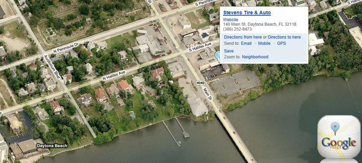 Aerial Map of Stevens Tire & Auto