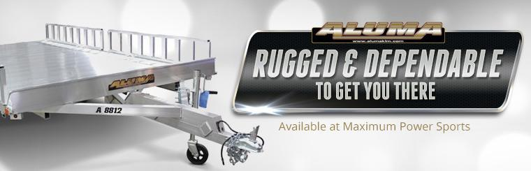 Aluma trailers are available at Maximum Power Sports!