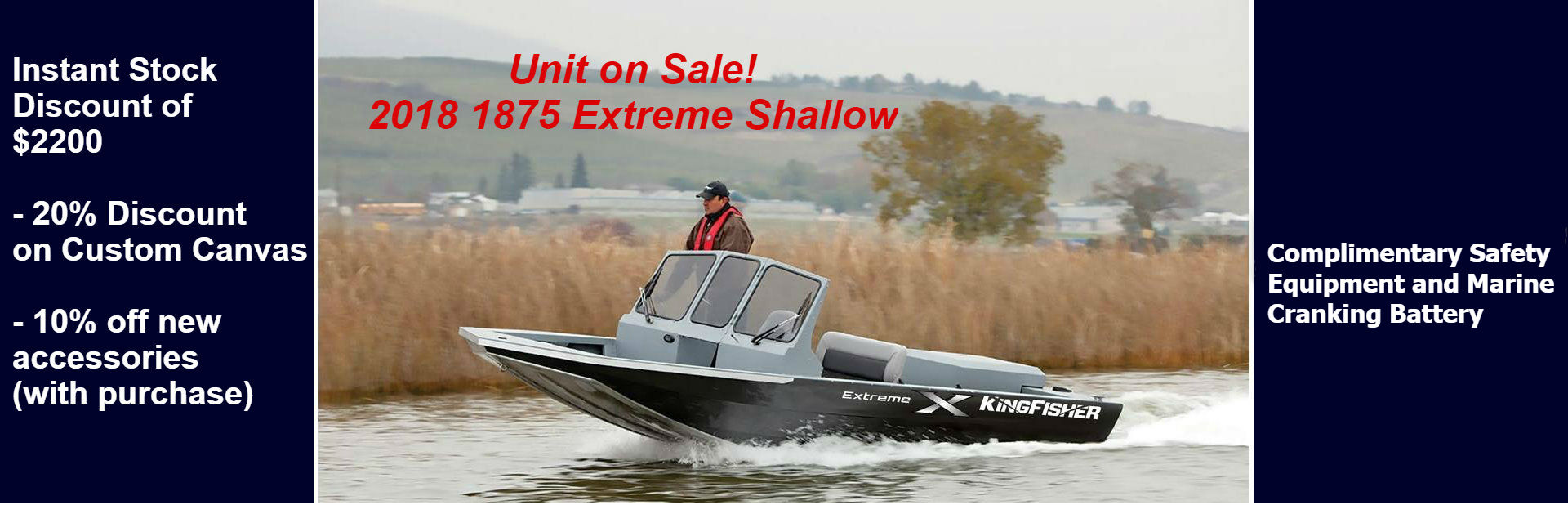 2018 1875 Extreme Shallow Sale