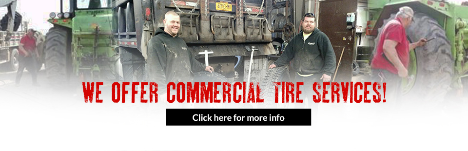 We offer commercial tire services! Click here for more information.