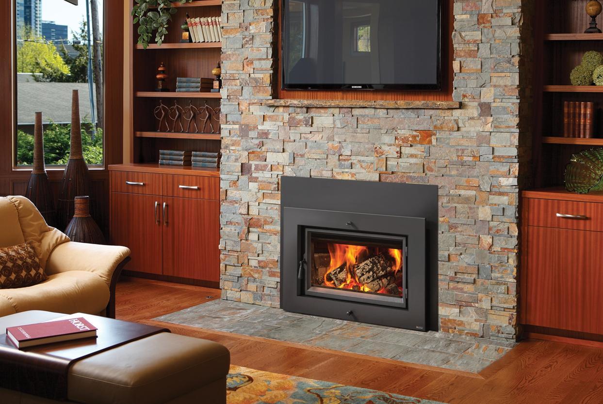 fireplace wood pellet insert