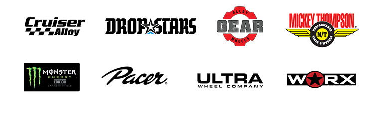 We proudly carry products from Cruiser Alloy, Dropstars, Gear Alloy, Mickey Thompson, Monster Energy, Pacer, Ultra Wheels, and Worx.