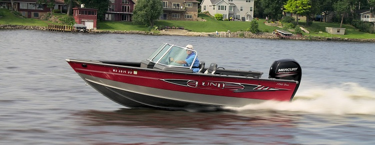 A Lund boat on a Wisconsin lake