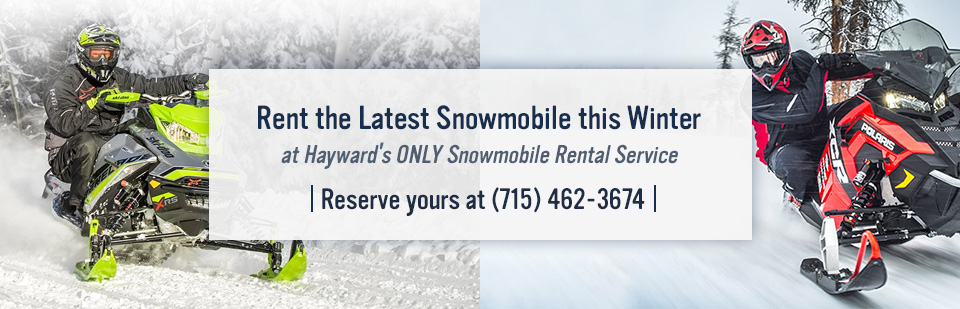 Snowmobile Rental in Hayward