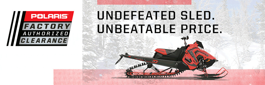 Polaris Snowmobile Factory Clearance