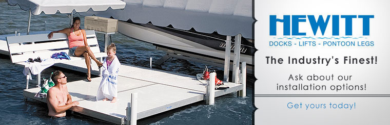 Hewitt Boat Lifts and Docks: Ask about our installation options!