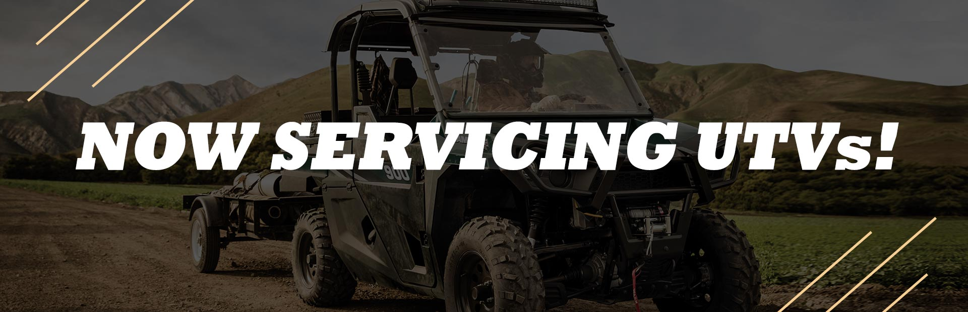 We now service UTVs! Click here to request a quote.