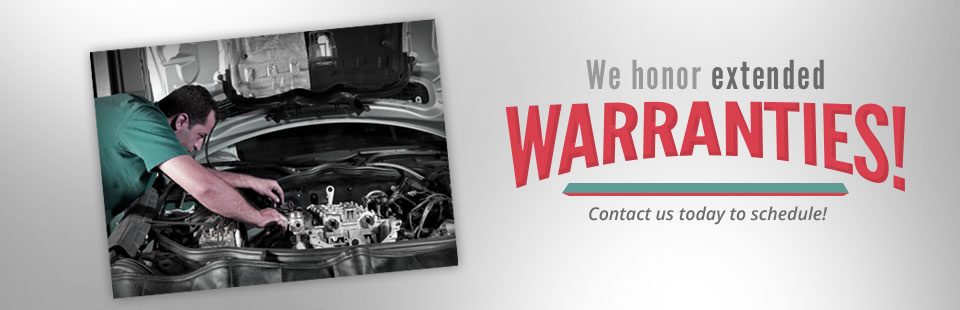 We honor extended warranties! Contact us today to schedule!