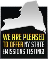 We are pleased to offer NY state emissions testing!