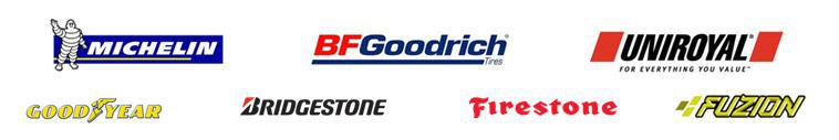We carry products from Michelin®, BFGoodrich®, Uniroyal®, Goodyear, Bridgestone, Firestone and Fuzion.
