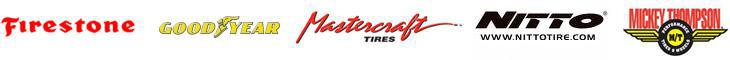 We carry products from Firestone, Goodyear, Mastercraft, Nitto, and Mickey Thompson.