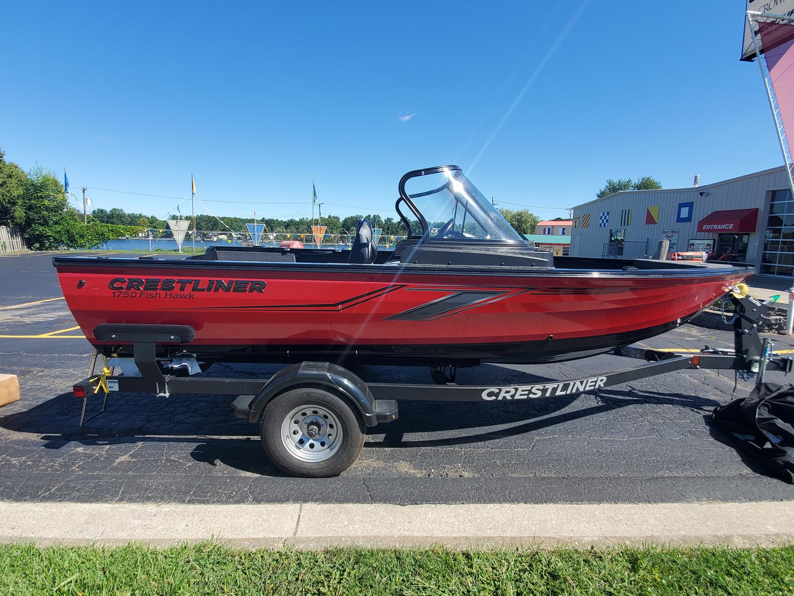 2020 Crestliner boat for sale, model of the boat is 1750 Fish Hawk Walk-through & Image # 1 of 31