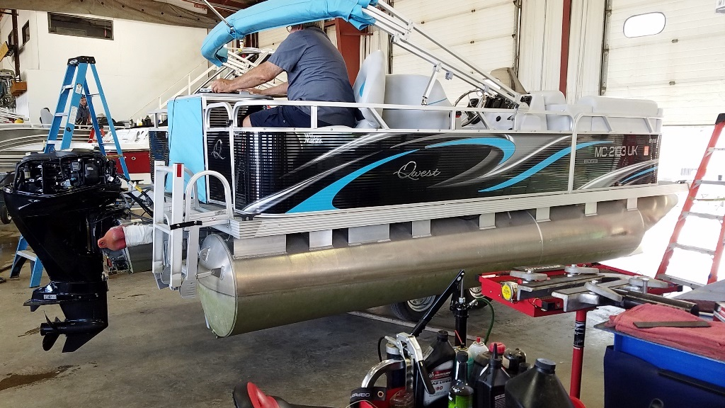 2020 Qwest Pontoons boat for sale, model of the boat is Edge 816 VX Cruise & Image # 3 of 11