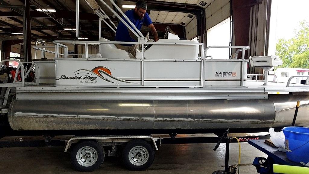 2007 Crest Pontoons boat for sale, model of the boat is Sunset Bay 190 Fish DL & Image # 1 of 10