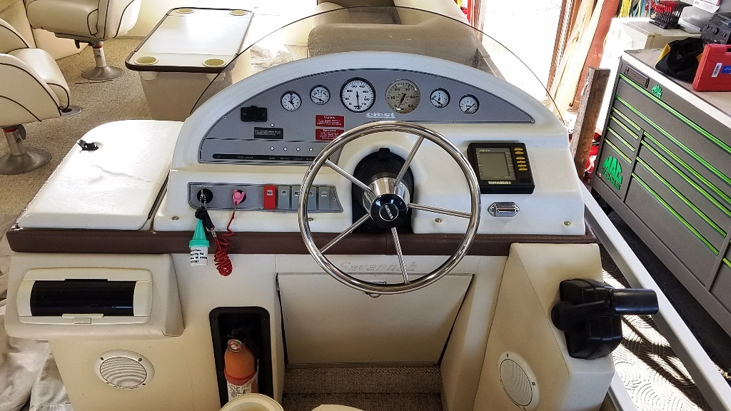1996 Crest Pontoons boat for sale, model of the boat is Savannah Gold & Image # 8 of 9