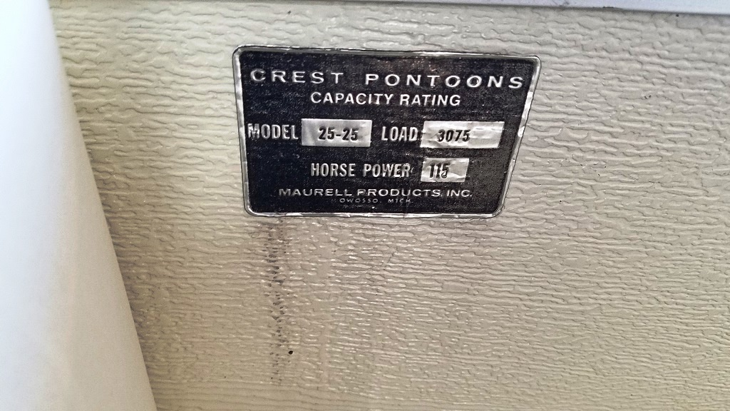 1996 Crest Pontoons boat for sale, model of the boat is Savannah Gold & Image # 9 of 9