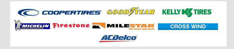 We carry quality products from Cooper, Goodyear, Kelly, Firestone, Michelin®, Milestar, Crosswind, and ACDelco.