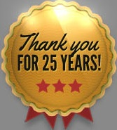 Thank you for 25 years!