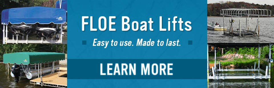 Shop Now For FLOE Boat Lifts!