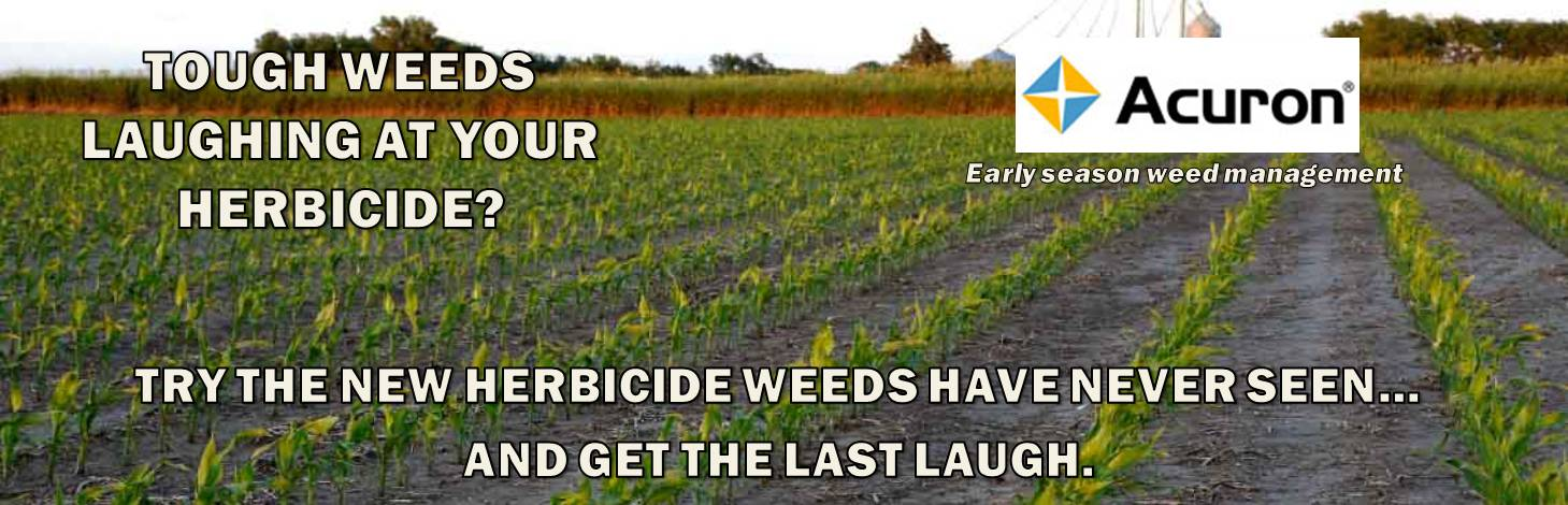 Acuron Herbicide. Your best chance for 1 pass weed control.