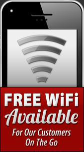 Free WiFi Available For Our Customers On The Go.