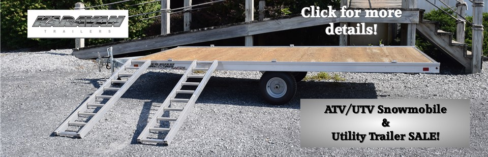 Karavan ATV UTV Snowmobile Utility Trailer Sale