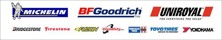 We carry products from Michelin®, BFGoodrich®, Uniroyal®, Bridgestone, Firestone, Fuzion, Hercules, Toyo, and Yokohama. We are affiliated with TireSafety.com.