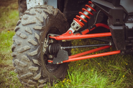 Close up of a Tire on an ATV