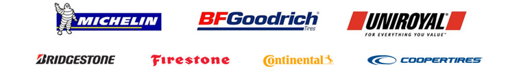 We offer products from Michelin®, BFGoodrich®, Uniroyal®, Bridgestone, Firestone, Continental, and Cooper.