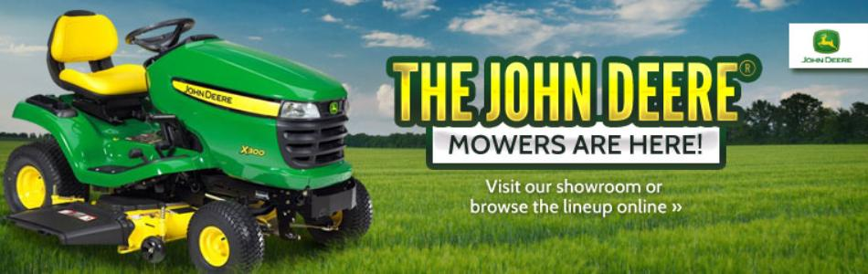 The John Deere Mowers are here!