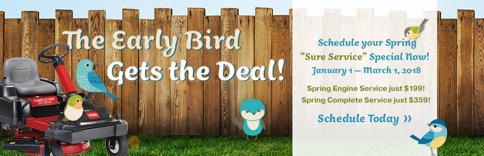 Early Bird Sure Service Rotational Banner