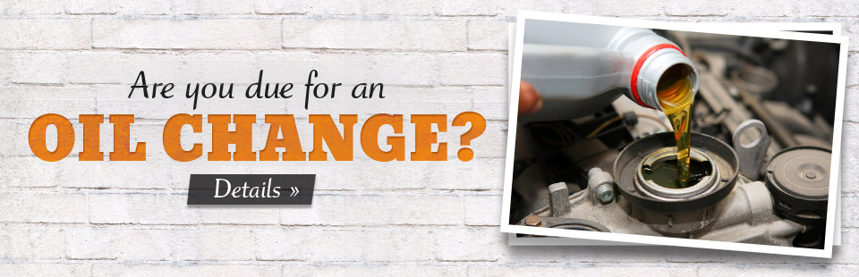 Are you due for an oil change? Stop in today! Click here for details.