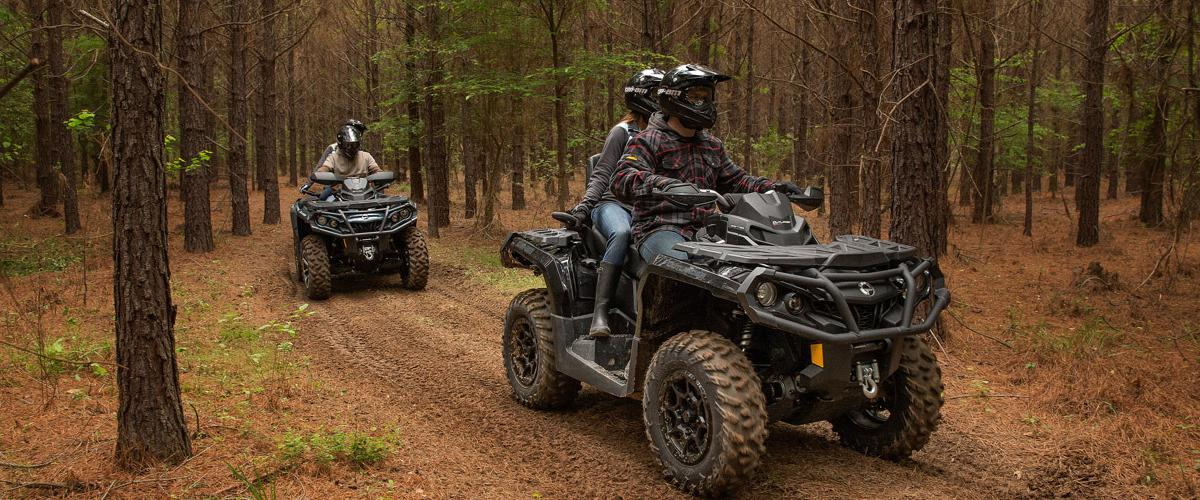 ATVs in the forest, in Madison, WI