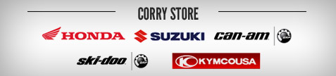 Corry Store: Honda, Suzuki, Can-Am, Ski-Doo, and Kymco.