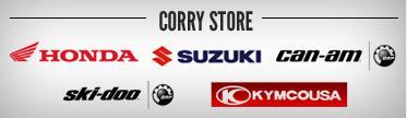 Corry Store: Honda, Suzuki, Can-Am, Ski-Doo, and Kymco.