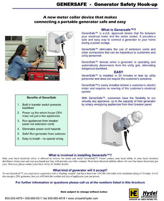 Genersafe - Generator Safety Hook-up