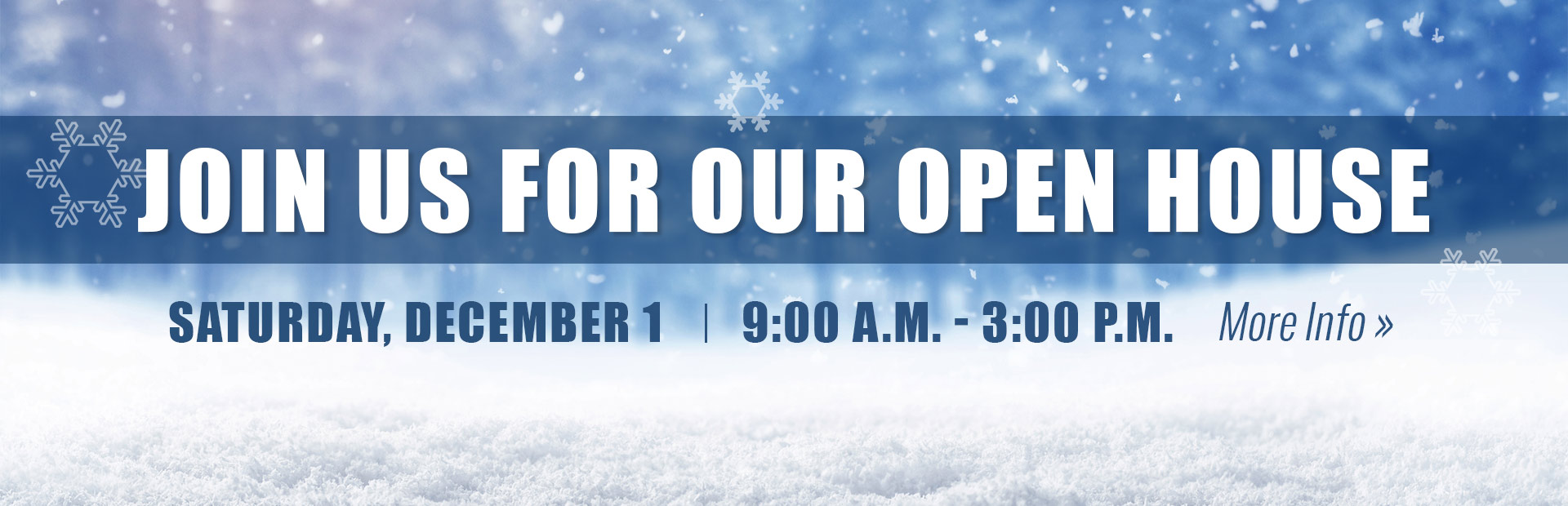 Join us Saturday, December 1 for our Open House! Click here for details.