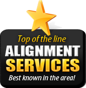 We offer top of the line alignment services, the best known in the area!