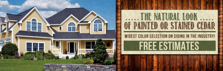 Click here for siding information. We give free estimates!